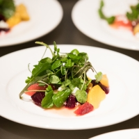 Salad served at an event hosted by the CIA at Copia in Napa, CA.