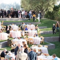 People attending an event at the Jackson Family Wines Amphitheater at the CIA at Copia in Napa, CA.