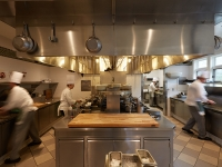 In the kitchen of the Gatehouse Restaurant at the CIA Greystone campus in St. Helena, CA.