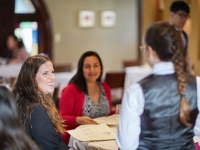Guests at the Gatehouse Restaurant, at the CIA at Greystone campus in St. Helena, CA.