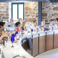 Wine tasting class in Rudd Center for Professional Wine Studies, located on the campus of The Culinary Institute of America at Greystone in St. Helena, CA.