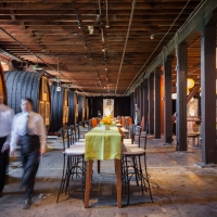 The Barrel Room event venue at The Culinary Institute of America at Greystone in St. Helena, CA.