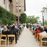 The Herb Terrace wedding venue at The Culinary Institute of America at Greystone in St. Helena, CA.