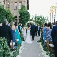 Wedding ceremony on the Herb Terrace  at The Culinary Institute of America at Greystone in St. Helena, CA.