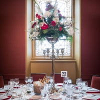 Farquahrson Hall set for The Marist College President's Dinner at The Culinary Institute of America's Hyde Park campus.