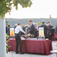 October 4th 2017  Society of Fellows meeting at the Hyde Park Campus of The Culinary Institute of America. Cocktail reception on Anton Plaza