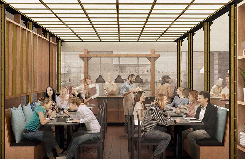 Savor The Culinary Institute of America interior rendering
