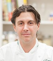 Brian Kaywork '02, CIA Chef-Instructor at American Bounty Restaurant in Hyde Park, NY.