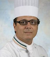Dwayne LiPuma '86, CIA Chef-Instructor at American Bounty Restaurant in Hyde Park, NY.