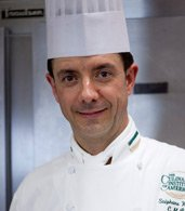 Stéphane Weber, CIA Pastry Chef-Instructor at The Bocuse Restaurant in Hyde Park, NY.