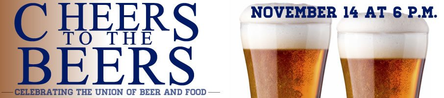 Cheers to the Beers, a CIA charity dining event by CIA students, November 14, 2015. Make your reservation now!