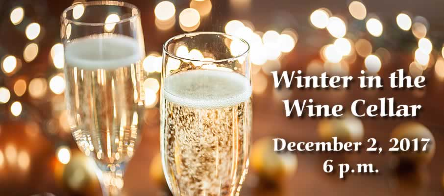Come celebrate winter with the senior students at The Culinary Institute of America: Winter in the Wine Cellar student-run charity event, Saturday, December 2, 2017