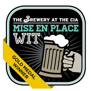 logo of the gold medal winning mise en place wit beer