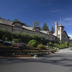 The main building on the campus of the CIA at Greystone in the Napa Valley